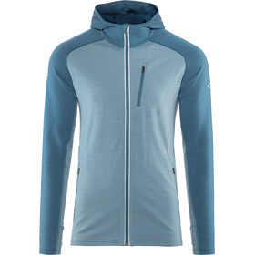 Icebreaker Quantum LS Zip Hood Jacket Men granite blue/prussian blue